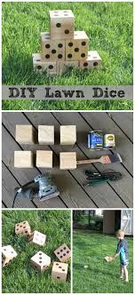 Wooden Yard Games DIY Wooden Yard Dice Sometimes Homemade 46
