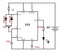 led project sajilv s blog arrangement i have not connected the 100n between the pin5 and negative rail and the resistor i used is 220r instead of 330r in the circuit diagram