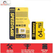Thẻ nhớ Remax 64GB Micro SD Class 10 80MB/s - Chính Hãng- Bảo Hành 1 Năm  squishyshop664