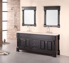 dual vanity bathroom:  design element andover  inch cherry oak double sink bathroom vanity set