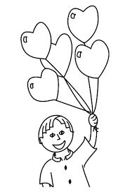 Disegno Bambino Con Palloncini Per La Festa Della Mamma Disegni Da