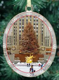 New York City Christmas Ornament - Rockefeller Center Skating Rink:  Amazon.co.uk: Kitchen & Home