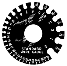 Wire Gauge Chart Actual Size Wire Gauge Wikipedia