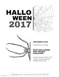 Halloween Flyer Template Black And White Postermywall