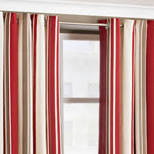 by design red striped curtains beige and soozone