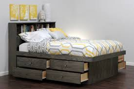 full size platform bed with storage and headboard