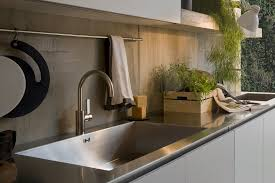 stainless steel kitchen sink and counter top