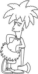 Free Coloring Pages For Kids Simpsons
