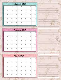 more calendars free printable 2018 quarterly calendars 2 designs