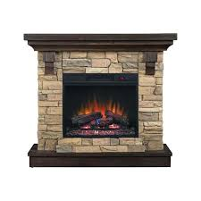 electric fireplaces with mantel image electric fireplace stone mantel canada