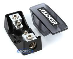 kicker mini anl fuse holder 1 0 8 gauge input and output product kicker fuse holder fhs
