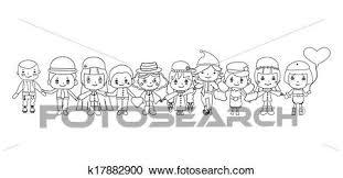 Clipart Bambini Disegni Vettore K17882900 Cerca Clipart
