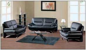 black leather living room furniture.  Leather Black Leather Living Room Simple Furniture Sets For F