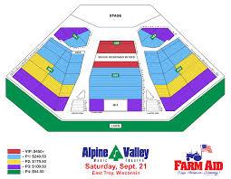 Alpine Valley Music Theatre Seating Chart Farm Aid