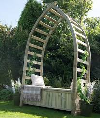 interior forest whitby arbour arbors garden arches and arbours timber arch with seat steel bench