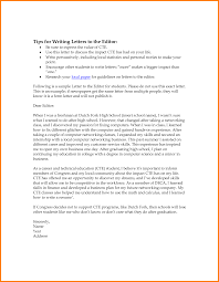 Awesome Collection of Letter To The Editor Sample Format For Students Resume
