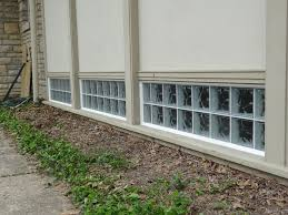 after glass block church windows at st james episcopal church with composite trim board
