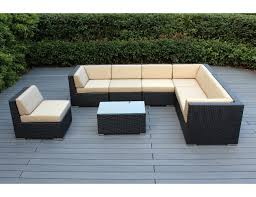 Amazon Ohana 8 Piece Outdoor Wicker Patio Furniture Sectional