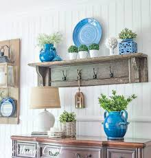 i love how the greenery balances the blue and how the colors naturally stand out against the white walls add as much or as little of your favorite