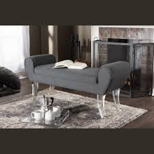 Contemporary Bedroom Bench Wholesale Interiors Baxton Studio Emerson Modern And Contemporary