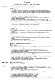 Mechanical Maintenance Resume Sample Mechanical Maintenance Technician Resume Samples Velvet Jobs 24
