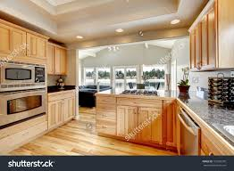Light Colored Kitchens Wood Kitchen Light Color Cabinets Hardwood Stock Photo 172993370