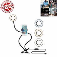 Desk Ring Light Amazon Selfie Ring Light Cell Phone Holder Clip Stand Desk Lamp
