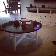 best diy round end table for coffee table ikea ottoman tutorial infarrantly