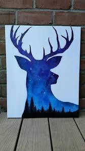 night sky painting acrylic painting deer art by themindblossom gardening trips