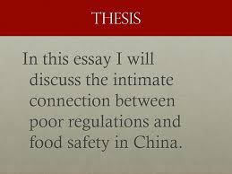 the essay writing process academic skills units and damon 30 thesis in this essay i will discuss the intimate connection between poor regulations and food safety in
