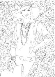 Small Picture British Vogue Adult Nice Fashion Coloring Book Coloring Page and