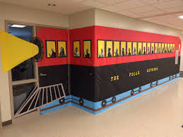 classroom door with window. Ideas About Hallway Decorations On Pinterest Hallways I Just Love This Classroom Door And Polar Express With Window