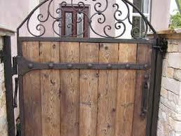 iron u0026 wood combination gate designs iron gates with wood i22