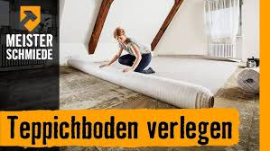 So sind die neuen teppichböden schalldämmend und umweltschonend, da aus umweltverträglichen materialien hergestellt. Teppichboden Verlegen Hornbach Meisterschmiede Youtube