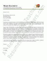 Unique Elementary Teacher Cover Letter Sample Pinterest Letter