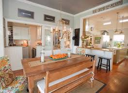 explore the farmhouse style and use benches instead of chairs