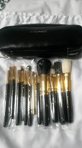 12 piece mac makeup brush set and case