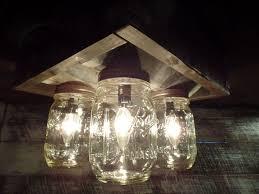 handmade lighting fixtures. Handmade Mason Jar Barn Box Farmhouse Ceiling Light Handmade Lighting Fixtures