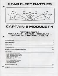 Star Fleet Battles Master Ship Chart Module R4 Rulebook 5609 2 5 00 Star Fleet Store
