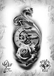 Roses And Clock компас татуировка часы татуировка розы и эскиз тату