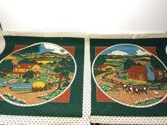 Mixed Fabric Scrap Lot Red Quilting Sewing Crafts | eBay | Fabric ... & Cranston Print Works Fabric Pillow Panels 2 Pillows | eBay Adamdwight.com