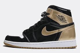 jordan shoes 2019. air jordan 1 high complexcon exclusive \u201ctop 3 black gold\u201d black/metallic gold-white release date: november 4, 2017 shoes 2019