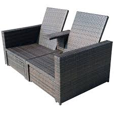 rattan garden furniture covers. Outsunny Outdoor Furniture Rattan Wicker Patio Lounge Chair Set Garden Covers .