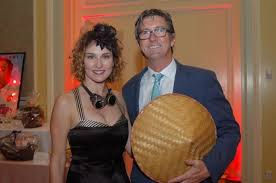 Kenlynne and Bill Mulroy 1 of 16 The Mad Hatter Feather Ball ...