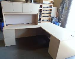 used hon l shape desk maple laminate hon l shape desk get