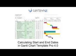 Gantt Chart Template Pro Calculating Dates Using Gantt Chart Template Pro 4 0 Youtube