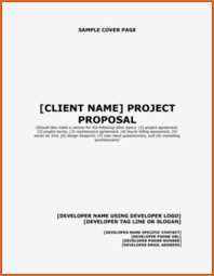Proposal Cover Sheet Template 14 Cover Page Of A Proposal Paycheck Stubs