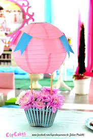 air balloon decorations superb hot air balloon centerpieces s party ideas shabby chic centerpiece from a