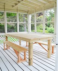how to build a 75 outdoor dining table