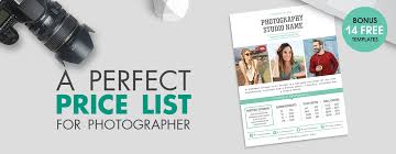 Photography Pricing Template Best Photography Pricing Formula Price List For Photographer
